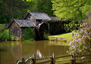Фото Водяная мельница Природа