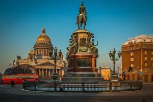 Фотография Памятники Санкт-Петербург Россия Собор Храмы Saint Isaac's Cathedral Города