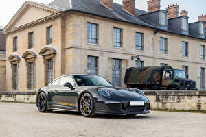 Обои Porsche Металлик Синие 2016 911 R  Tribute to Steve McQueen Автомобили
