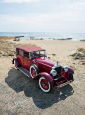 Картинка Ретро Бордовый 1928 Packard Custom Eight Convertible Sedan by Murphy Автомобили