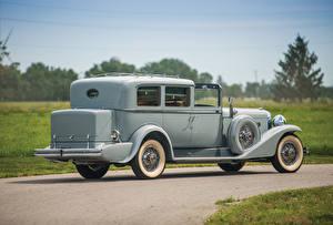 Фотография Ретро Серый Металлик Вид 1932 Duesenberg J 497-2514 Town Car Limousine LWB by Kirchhoff Автомобили