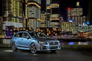 Обои Субару Голубой 2016 Levorg GT-S