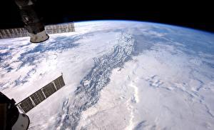 Картинки Поверхность планеты Орбитальные станции Земля NASA, ISS Космос