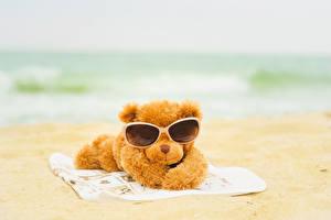 Фото Плюшевый мишка Пляж Очки