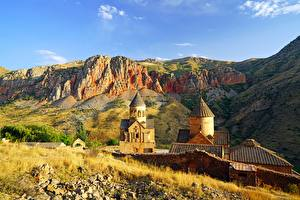 Фото Храмы Церковь Армения Утес Noravank Природа