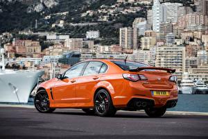 Обои Vauxhall Оранжевая GTS VXR8 2014 Автомобили