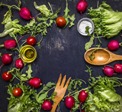 Фотография Овощи Редис Продукты питания