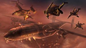 Обои Самолеты Конвертоплан Воители Бомбардировщик Фэнтези