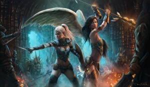 Фото Ангелы Воины Красивые Ardulace, Nicole Фэнтези Девушки
