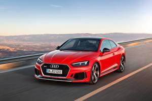 Обои Audi Красный Металлик Скорость 2017 RS 5 Coupу Автомобили
