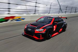 Фотографии Audi Стайлинг Черная Едет 2016-17 RS 3 LMS (8V) Автомобили