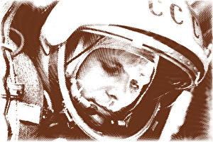 Картинки Космонавты Юрий Алексеевич Гагарин Шлем СССР Космос