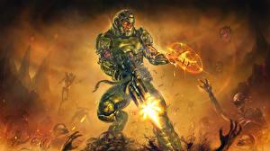 Фотография Doom Воители Магия Выстрел Броня 4. Cyberdemon