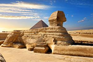 Фотографии Египет Пустыня Cairo, Great Sphinx of Giza