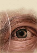 Картинки Глаза Рисованные Крупным планом Ресница Смотрят