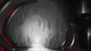 Фотография Фантастический мир Туннель Пещера Фэнтези