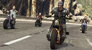 Обои ГТА 5 Online, Bikers Игры 3D_Графика Мотоциклы