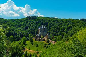 Картинка Германия Замки Леса Eltz Castle Города