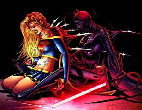 Картинки Герои комиксов Супергёрл герой 2 Batgirl Девушки