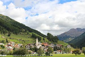 Картинки Дома Горы Италия Bolzano, Resia Города