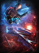 Картинка Иллюстрации к книгам Волшебство Космолет Шлем Ender's Game