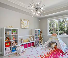 Обои Интерьер Детская комната Игрушки Дизайн Люстра
