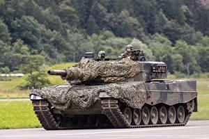 Обои Леопард 2 Танки Маскировка Немецкий