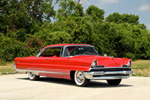 Картинка Lincoln Ретро Красные Металлик 1956 Premiere Hardtop Coupe авто