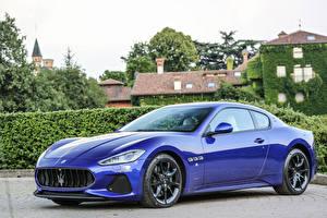 Картинка Maserati Металлик Роскошный Синий 2017 GranTurismo Sport авто