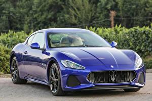 Фотография Maserati Металлик Роскошные Синий 2017 GranTurismo Sport авто