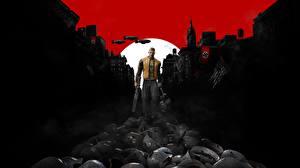 Картинки Мужчины Военная каска Wolfenstein II: The New Colossus Colossus