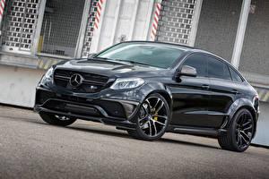 Картинки Mercedes-Benz Черная Металлик Купе Lumma Design C292 GLE-Class авто
