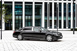 Фотография Мерседес бенц Черных Металлик X222 Maybach S-Class авто