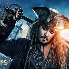 Фотографии Пираты Карибского моря: Мертвецы не рассказывают сказки Дреды Johnny Depp Пираты Шляпа