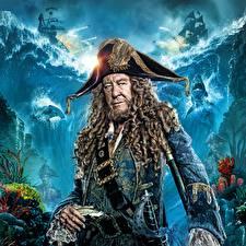 Фотография Пираты Пираты Карибского моря: Мертвецы не рассказывают сказки Джеффри Раш Шляпы Фильмы Знаменитости