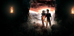 Фотография Rise of the Tomb Raider Uncharted 4: A Thief's End Воины Лара Крофт nathan drake Девушки