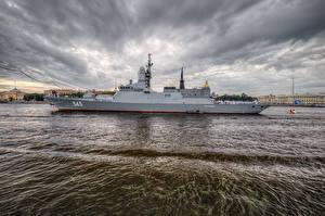 Фотография Россия Санкт-Петербург Реки Корабли Русские Стойкий (корвет)