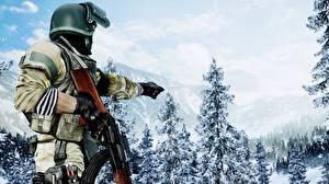 Обои Солдаты АК 47 Battlefield 4