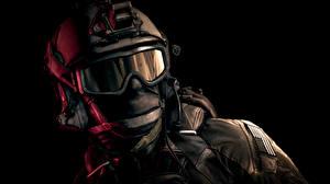 Обои Солдаты Battlefield 4 Шлем Очки