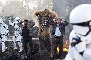 Фото Звёздные войны: Пробуждение Силы Клоны солдаты Харрисон Форд Chewbacca кино Знаменитости