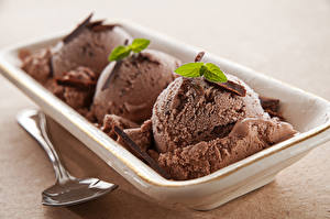 Картинки Сладости Мороженое Шоколад Шар Пища
