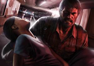 Фотография The Last of Us Мужчины Двое Недовольство Ellie, Joel компьютерная игра