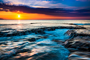 Обои Тропики Пейзаж Рассветы и закаты Небо Гавайи Солнце Природа