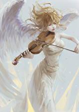 Картинки Ангелы Скрипки Девушки