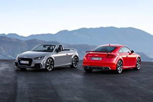 Картинки Audi Вдвоем Металлик Родстер 2016 TT RS Roadster авто