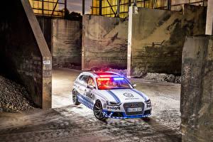Картинка Audi Полицейский Универсал RS 4 Avant 2015 Автомобили