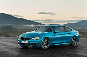 Фото BMW Голубые Металлик 2017 440i Coupe M Sport Worldwide машина
