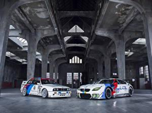Обои БМВ Тюнинг Два Белый M6 E30 машины