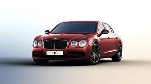 Обои Bentley Бордовый Beluga, Flying Spur, 2015 Автомобили картинки
