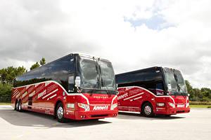Обои Автобус 2 Красный 2011-17 Prevost H3-45 Авто
